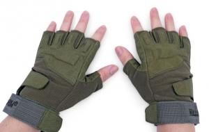 Перчатки с обрезанными пальцами, реплика Blackhawk Green